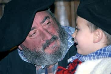 Olentzero cumplió en Estella su cuadragésima visita