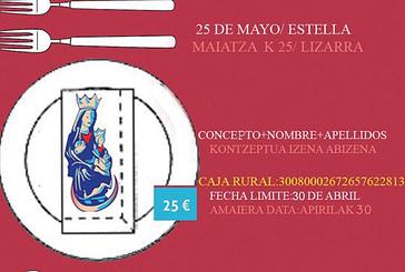 El plazo para apuntarse a la comida de la Virgen del Puy termina el 30 de abril