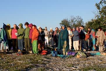 Setenta personas participaron en la iniciativa 'Saludo  al Sol' en Urbasa