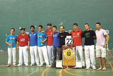 Piérola-Maestresalas vencieron en el II Torneo Popular de Mano Parejas con Pelota Goxua