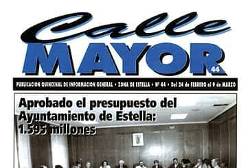 CALLE MAYOR 044 - APROBADO EL PRESUPUESTO DEL AYUNTAMIENTO DE ESTELLA: 1.595 MILLONES