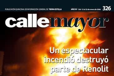 CALLE MAYOR 326 - UN ESPECTACULAR INCENDIO DESTRUYÓ PARTE DE RENOLIT
