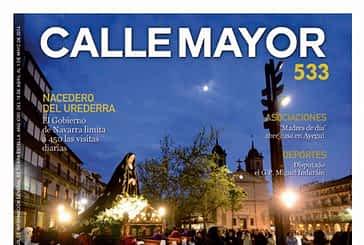 CALLE MAYOR 533 - EL TRASLADO DE LA DOLOROSA INICIÓ LA SEMANA SANTA EN ESTELLA