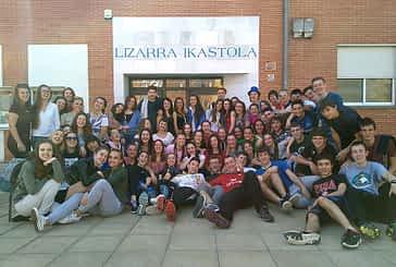 Lizarra Ikastola recibió a alumnos eslovacos
