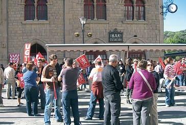 300 huelguistas se opusieron activamente a la reforma laboral en las calles de Estella
