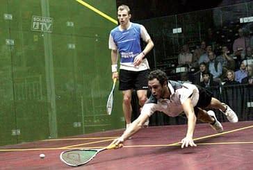 Exhibición de squash en el polideportivo Tierra Estella