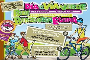 El domingo 22, Día de la Vía Verde del Ferrocarril Vasco-Navarro