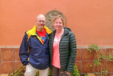 """DE PASO POR ESTELLA - Gregory De Veau e  Yvette De Veau-Hurd  Estados Unidos - """"Mi hermana va a su ritmo, yo al mío, y luego nos juntamos"""""""