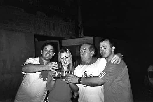 Luis Díaz de Cerio, Sabina Dos Santos, Jesús San Félix y Carlos Dos Santos.
