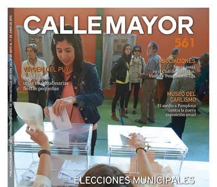 CALLE MAYOR 561 – ELECCIONES MUNICIPALES. TIEMPOS DE CAMBIO EN ESTELLA
