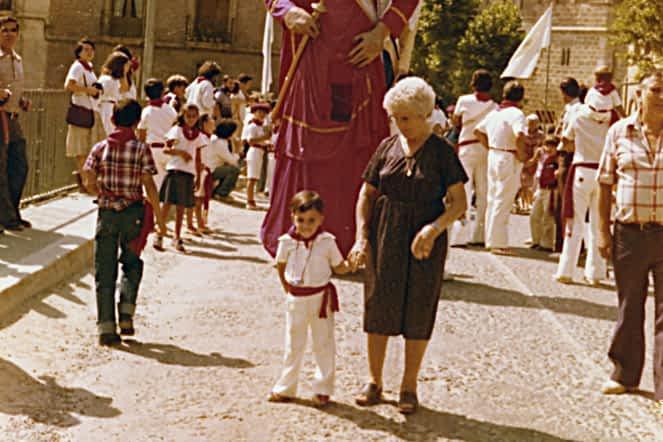 Fiestas 1979, Sergio San Vicente Astarriaga con su bisabuela Dolores Belda
