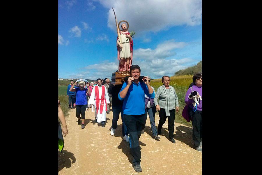 Romería en honor a San Tirso en Oteiza. Cedida.