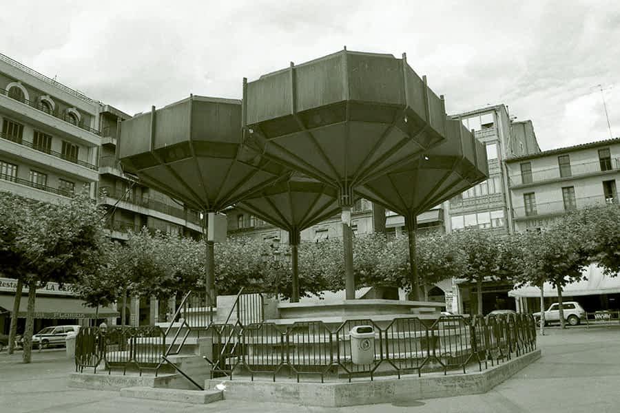Quiosco 'de las 4 copas', Plaza de los Fueros de Estella-Lizarra 1967-1993
