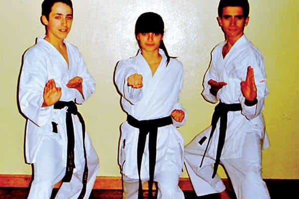 Iñigo Partenáin, Jon Napal y Maite Basterra, nuevos cinturones negros de karate