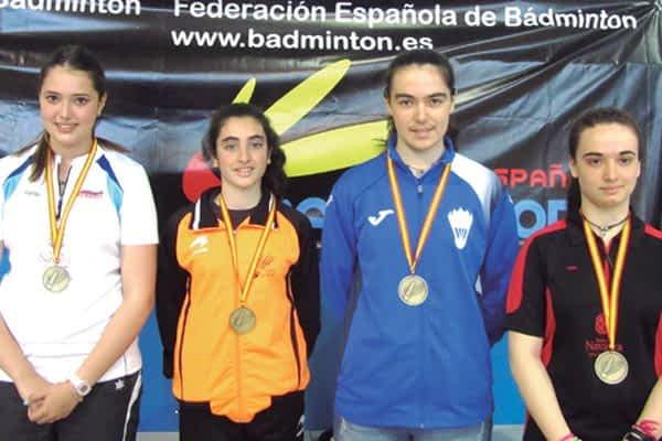 Dos bronces en doble femenino en el Campeonato de España sub 15