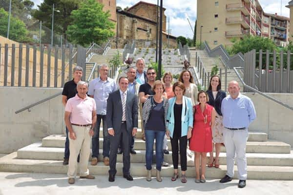 Inauguradas las calles Monasterio de Irache y Juan de Labrit de Estella