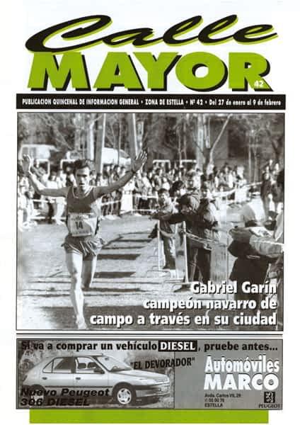 CALLE MAYOR 042 – GABRIEL GARÍN CAMPEÓN NAVARRO DE CAMPO A TRAVÉS EN SU CIUDAD