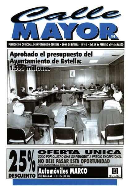 CALLE MAYOR 044 – APROBADO EL PRESUPUESTO DEL AYUNTAMIENTO DE ESTELLA: 1.595 MILLONES