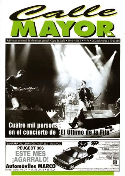 """CALLE MAYOR 094 – CUATRO MIL PERSONAS EN EL CONCIERTO DE """"EL ÚLTIMO DE LA FILA"""""""