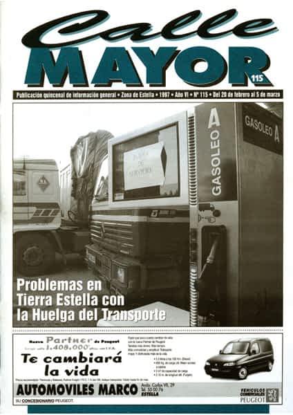 CALLE MAYOR 115 – PROBLEMAS EN TIERRA ESTELLA CON LA HUELGA DEL TRANSPORTE