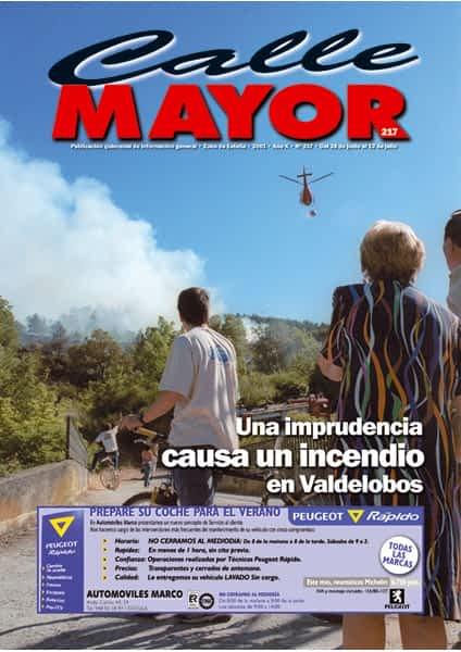 CALLE MAYOR 217 – UNA IMPRUDENCIA CAUSA UN INCENDIO EN VALDELOBOS