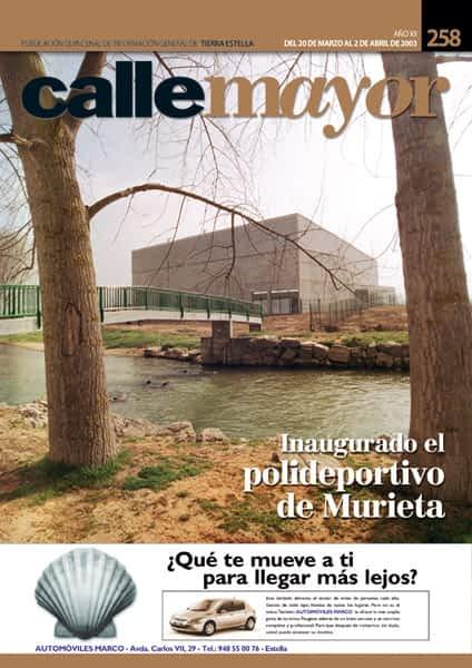 CALLE MAYOR 258 – INAUGURADO EL POLIDEPORTIVO DE MURIETA