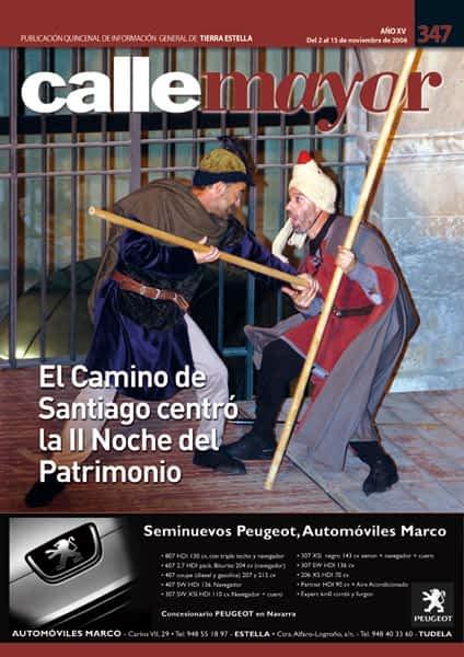 CALLE MAYOR 347 – EL CAMINO DE SANTIAGO CENTRÓ LA II NOCHE DEL PATRIMONIO