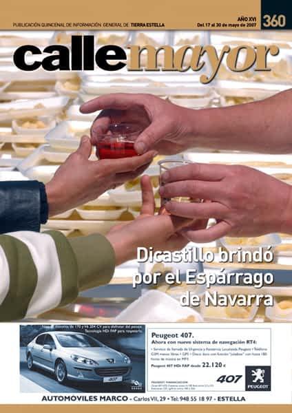 CALLE MAYOR 360 – DICASTILLO BRINDÓ POR EL ESPÁRRAGO DE NAVARRA