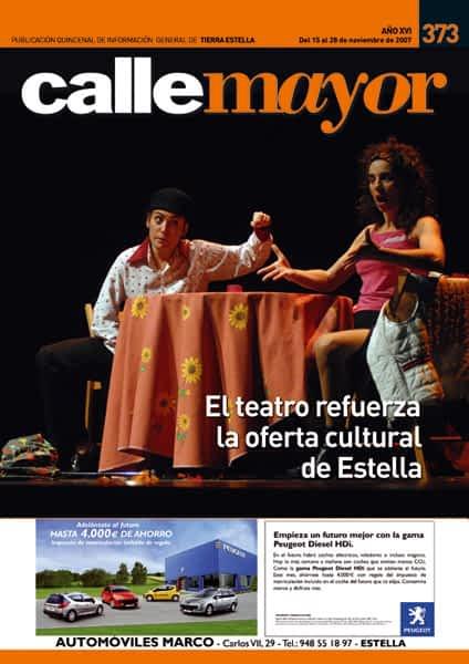 CALLE MAYOR 373 – EL TEATRO REFUERZA LA OFERTA CULTURAL DE ESTELLA