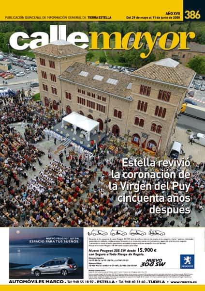 CALLE MAYOR 386 – ESTELLA REVIVIÓ LA CORONACIÓN DE LA VIRGEN DEL PUY CINCUENTA AÑOS DESPUÉS