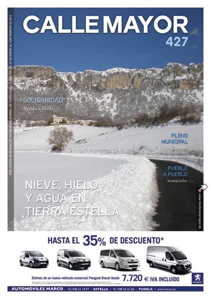 CALLE MAYOR 427 – NIEVE, HIELO Y AGUA EN TIERRA ESTELLA