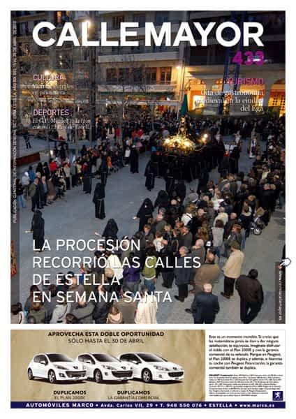 CALLE MAYOR 433 – LA PROCESIÓN RECORRIÓ LAS CALLES DE ESTELLA EN SEMANA SANTA