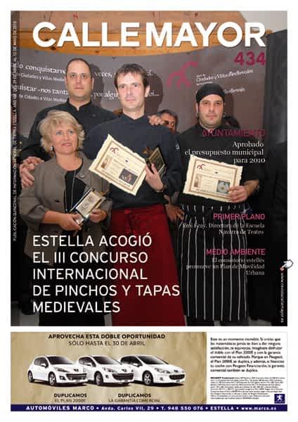 CALLE MAYOR 434 – ESTELLA ACOGIÓ EL III CONCURSO INTERNACIONAL DE PICHOS Y TAPAS MEDIEVALES