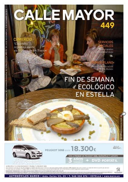 CALLE MAYOR 449 – FIN DE SEMANA ECOLÓGICO EN ESTELLA