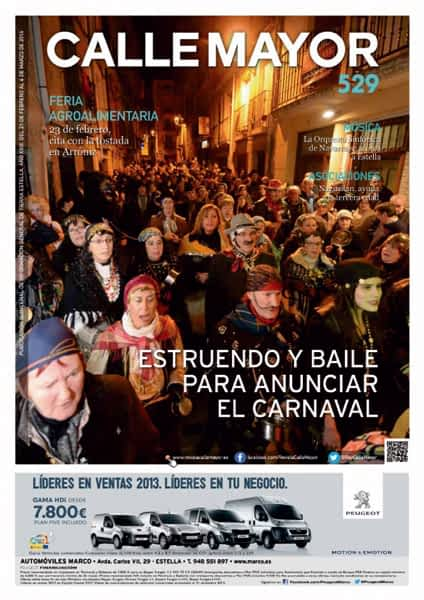 CALLE MAYOR 529 – ESTRUENDO Y BAILE PARA ANUNCIAR EL CARNAVAL