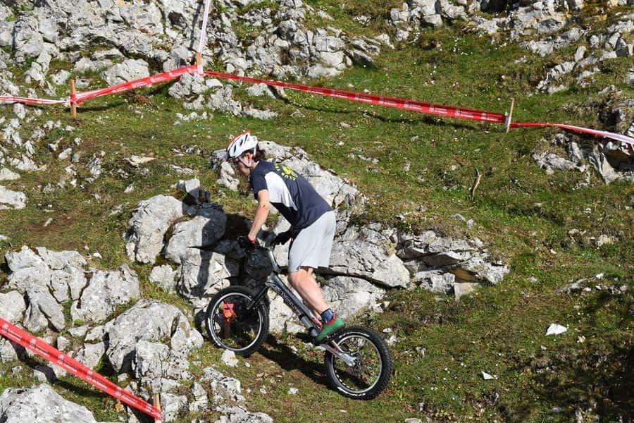 Cincuenta pilotos se dieron cita en el Campeonato Navarro de Trial Bici