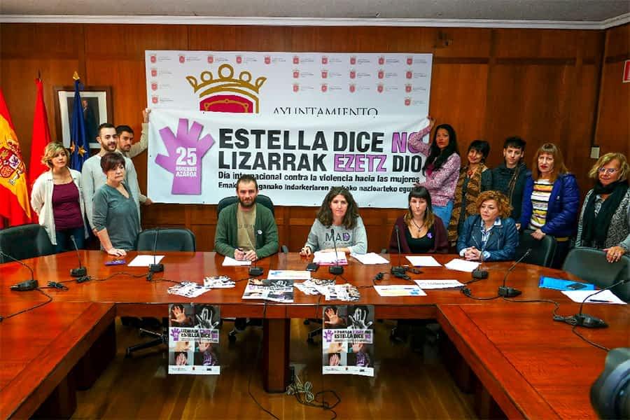 Estella dice NO a la violencia contra las mujeres