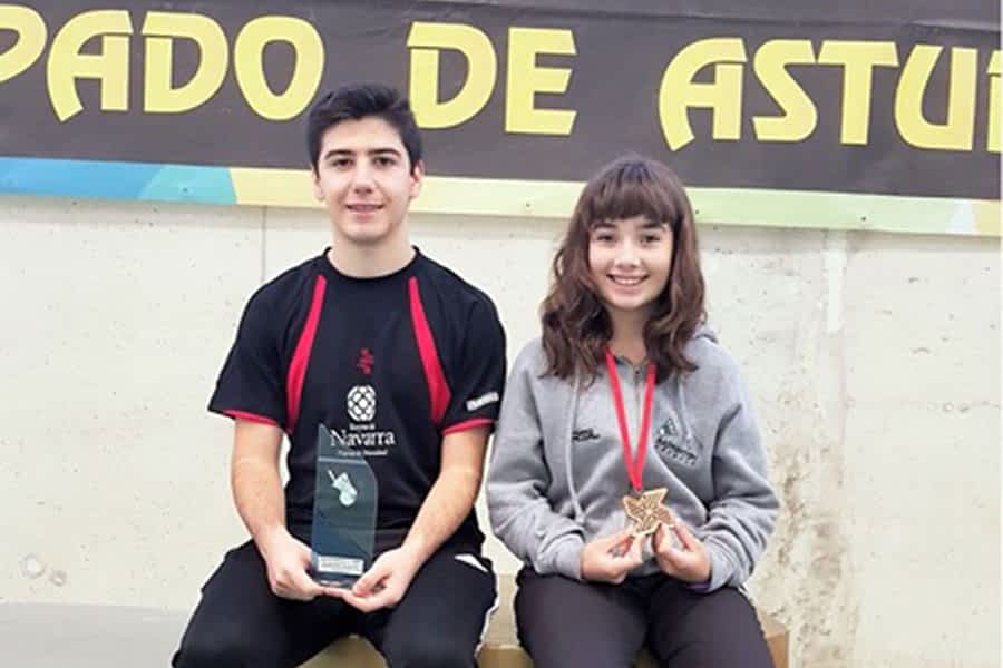 David Ganuza y Marta Bujanda, plata y bronce en Gijón