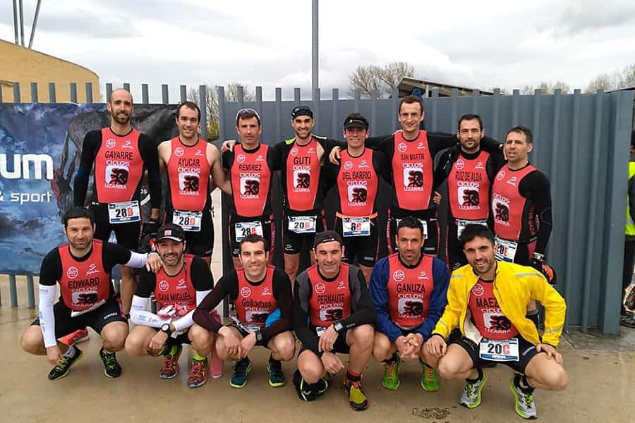 El Tri Ur Gazia, tercero en el duatlón por equipos del Valle de Egüés
