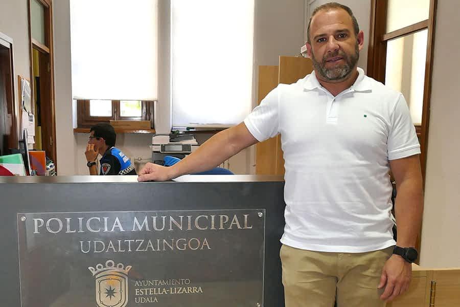 Rodrigo García, nuevo jefe de Policía Municipal de Estella