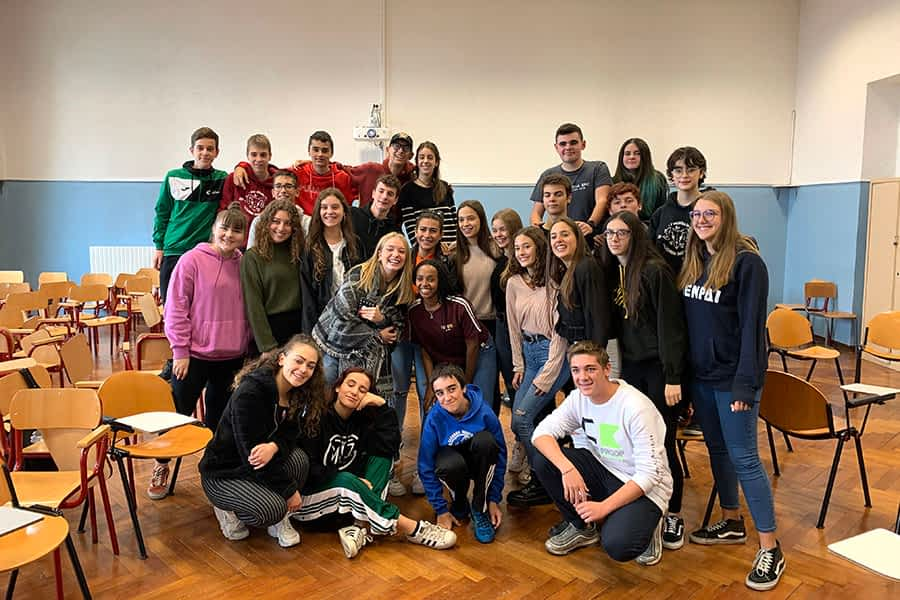 Alumnado de Lizarra Ikastola, de intercambio en Rivoli (Italia)