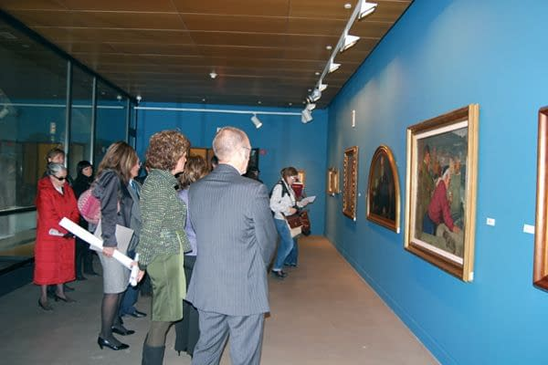 Estella reúne en su museo a artistas coetáneos de Gustavo de Maeztu