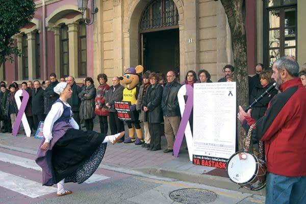 'Nagore' se estrenó  en Estella la víspera del día contra la violencia sexista
