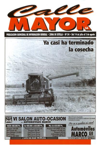 CALLE MAYOR 054 – YA CASI HA TERMINADO LA COSECHA