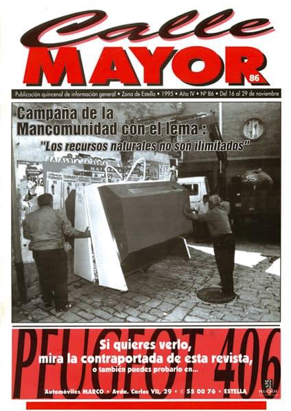 """CALLE MAYOR 086 – CAMPAÑA DE LA MANCOMUNIDAD CON EL LEMA: """"LOS RECURSOS NATURALES NO SON ILIMITADOS"""""""