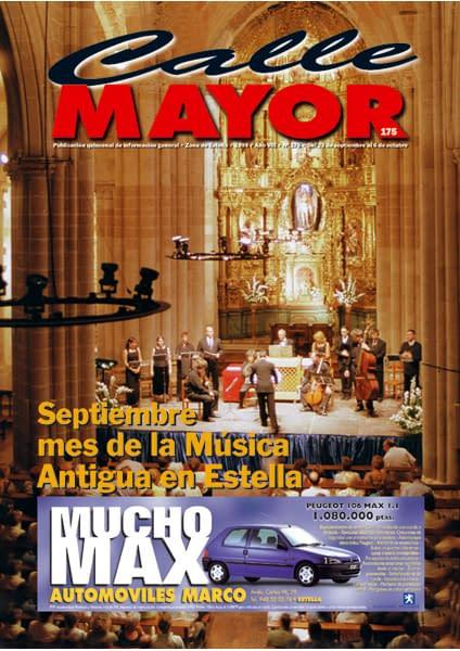CALLE MAYOR 175 – SEPTIEMBRE MES DE LA MÚSICA ANTIGUA EN ESTELLA