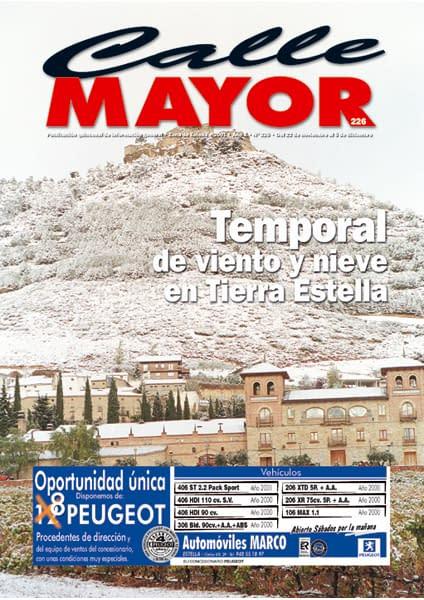 CALLE MAYOR 226 – TEMPORAL DE VIENTO Y NIEVE EN TIERRA ESTELLA
