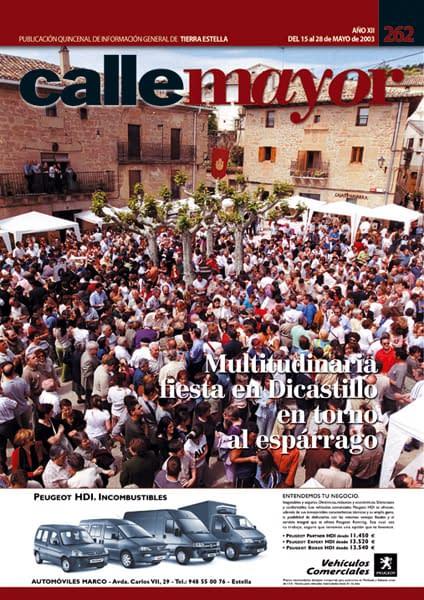 CALLE MAYOR 262 – MULTITUDINARIA FIESTA EN DICASTILLO EN TORNO AL ESPÁRRAGO