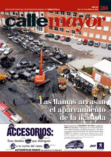 CALLE MAYOR 284 – LAS LLAMAS ARRASAN EL APARCAMIENTO DE LA IKASTOLA