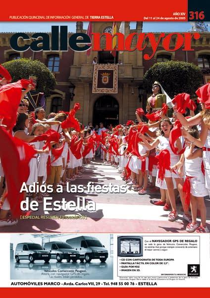 CALLE MAYOR 316 – ADIÓS A LAS FIESTAS DE ESTELLA